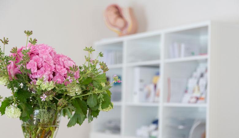 Empfang der Frauenarztpraxis Dr. Graf und Dr. Frick in München Obermenzing